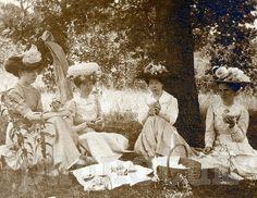 picnic, c1900---