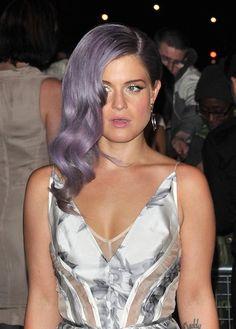 She rocks purple hair!