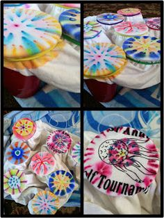 DIY Sharpie Tie Dye shirt. Plastic cups, rubber bands, rubbing alcohol & medicine dropper.  Iron and wash inside out.