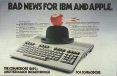 Commodore 128 ad ... Bad news for IBM and Apple