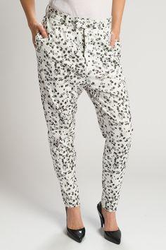 Organic Cotton Printed Dalmatian Pants - Miakoda Made in America