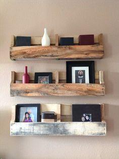 Reclaimed pallet shelves set