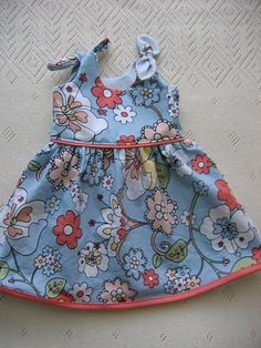 a cute free pattern for a little spring dress.  Its for a little girl I havent even met yet, but I love her