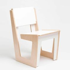 ARRé Design Metro Chair in White + Plywood