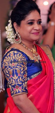 Exclusive Collection of Indian Celebrity Sarees and Designer Blouses Cutwork Blouse Designs, Fancy Blouse Designs, Bridal Blouse Designs, South Indian Blouse Designs, Frock Models, Wedding Saree Blouse, Hand Work Blouse Design, Baby Frocks Designs, Designer Blouse Patterns