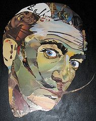 Visions of Salvidor Dali. Use cut up pictures of his work to make a portrait of the artist. This could be done for any artist! Art Lessons - Homeschooling