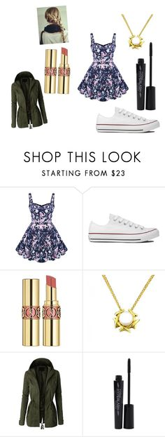 """The Burrow"" by erin-t13 ❤ liked on Polyvore featuring Converse, Yves Saint Laurent, Tiffany & Co., LE3NO and Smashbox"
