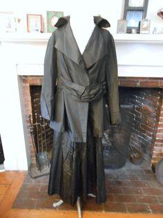 FREE SHIPPING!! Mourning Death Widow Weeds Silk Suit Downton Titanic Era Worn In DVD
