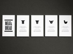 Tall thin type ties together this brand. I like the little animals for each of the different business cards