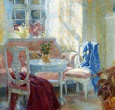 Interior Landscape. Johannes Grenness (Norwegian, 1875-1963) ~ Blog of an Art Admirer