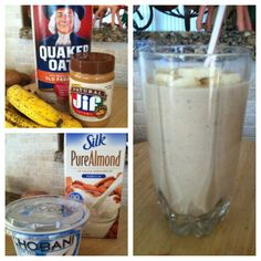 Breakfast on the Go Oatmeal, Peanut Butter, & Banana Smoothie!