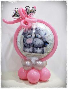 www.globofiesta.com elegante combinación de colores para decorar la fiesta de tu bebé