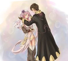 Happy ending (Olivia/MU from Fire Emblem Awakening) by AliceTheBRabbit.deviantart.com. Aww! So sweet!