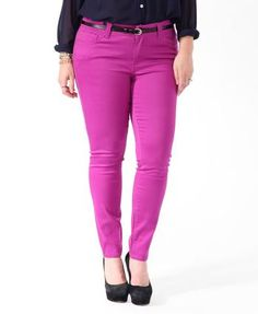 Colored Skinny Jeans #Glimpse_by_TheFind