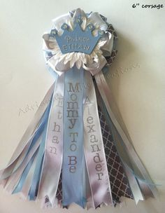 Prince Crown Baby Shower Corsage/Pin by littlecreationz on Etsy, $14.00