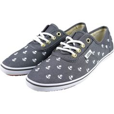 Grey Anchor Vans Shoes