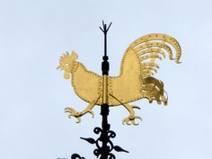 This nice weathercock on top of the Stevenskerk in Nijmegen, the Netherlands, is 1.25 meters high and weighs 120 kilo's!...