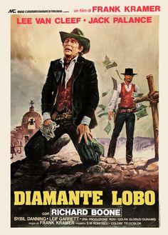 "God's Gun (1976)  ""Diamante Lobo"" (original title) Stars: Lee Van Cleef, Jack Palance, Richard Boone, Sybil Danning, Leif Garrett, Robert Lipton ~ Director: Gianfranco Parolini (Italian Poster)"