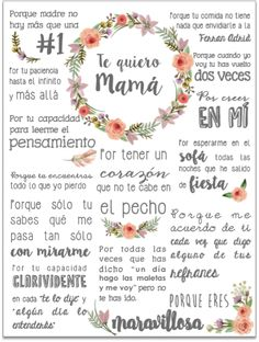 feliz dia de la madre - Zinc Tutorial and Ideas Mom Birthday, Birthday Cards, Gifts For Mom, Diy Gifts, Mom Day, Ideas Para Fiestas, Mother And Father, Happy Mothers Day, Happy Mom