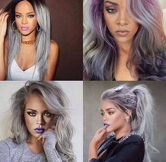 Color Inspiration: Rihanna's gray hair
