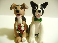 Dog Wedding Cake Topper | topofthecake | Etsy MINE WOULD HAVE TO BE STANDARD POODLES!!👉💑👰🐩🐩💗👈