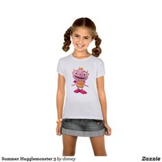 Henry Hugglemonster - Tu Playera para niñas ajustada Babydoll de Bella personalizada. Producto disponible en tienda Zazzle. Vestuario, moda. Product available in Zazzle store. Fashion wardrobe. Regalos, Gifts. #camiseta #tshirt