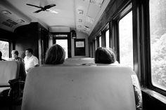 Family on the train in Arkville NY