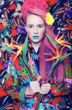 'Power of Flowers' Perfecto Magazine: Photographed by Hannah Sider, styled by Chloe Wise, hair and make-up by Dat Tran