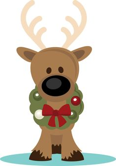 CUTE CHRISTMAS REINDEER CLIP ART