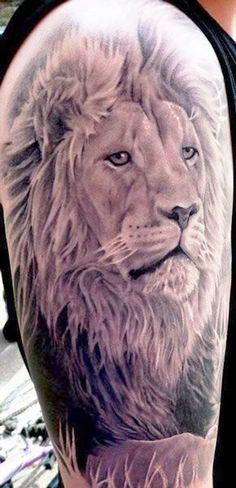 Smug Lion Face On Shoulder