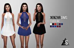 Caroline dress at Kenzar Sims via Sims 4 Updates