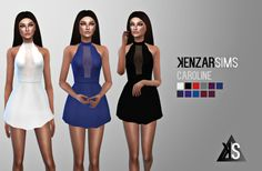 Kenzar: Caroline dress • Sims 4 Downloads