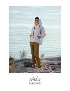 Hoodie with silk details  Silk pants polka-dot from @atelierbachot