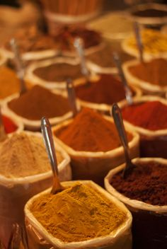 Spices in the night market