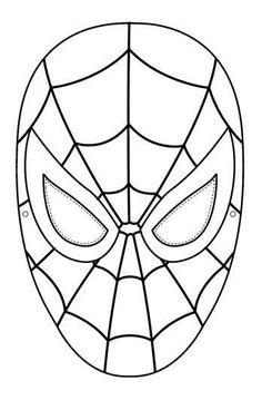 Dibujos de Spiderman: fotos diseños para pintar - Máscara de Spiderman