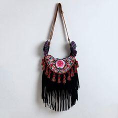 Sac à franges  Hippie frange sac bandoulière par EmbiBags sur Etsy, $90,00