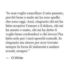 Il mio passato; Oscar Wilde