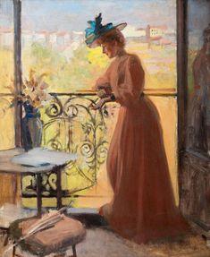알베르 아델펠트(핀란드), 발코니의 여인 Albert Edelfelt, Lady on the Balcony.