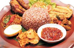 Red rice indonesian food