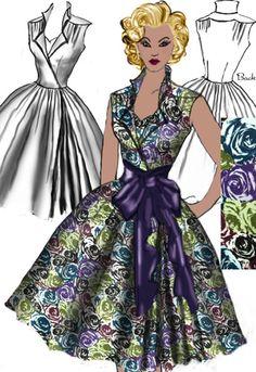 Sleeveless Rockabilly Rose Dress  by Amber Middaugh