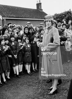 January 1, 1982: Princess Diana arriving at St Mary Magdalene Church in Sandringham for New Year's Day morning service,