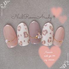Click this image to show the full-size version. Cute Nail Art, Gel Nail Art, Cute Nails, Acrylic Nails, Nail Nail, Nail Polish, Japan Nail Art, Asian Nails, Uñas Fashion