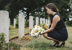 Young widow laying flowers at the grave photo by Rawpixel on Envato Elements Funeral Arrangements, Flower Arrangements, Urban Concept, Funeral Planning, Same Day Flower Delivery, Send Flowers, Funeral Flowers, Texture Design, Cemetery