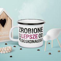 Kubek z napisem motywacyjnym Mugs, Motivation, Coffee, Tableware, Kaffee, Dinnerware, Tablewares, Cup Of Coffee, Mug
