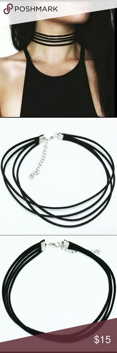 Women Trendy Multi-layer Velvet Choker 🌺NWOT  🌺 color: black  🌺color as shown as picture  🌺This beautiful and Fashionable necklace is suitable for all ages. It is cute and elegant. Match your apparel and fit for any occasion and season. It's special design will make you look unique.  🌺great gift for a lover, family, friend and co worker.  🌺party and banquets  🌺material velvet+alloy  🌺adjustable for comfort.  🌺measurements 12in+2.2in  🌺bundle and save  🌺smoke and pet free home…