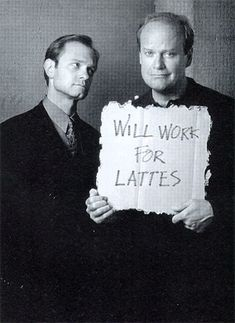 Niles and Frasier,I strongly suspect that I love this show because of how much coffee they drink... Niles Crane, Frasier Crane, Best Shows Ever, Best Tv Shows, Favorite Tv Shows, Kelsey Grammer, Comedy Tv, Old Tv Shows, Me Tv