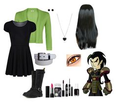 If Chase Young Were a Girl... by nobledynasti on Polyvore featuring Precis Petite, Dr. Martens, claire's, Rouge Bunny Rouge, Kat Von D, Urban Decay, NYX and Essie