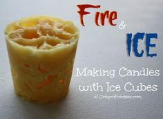 Fire and Ice Candles {preschool melting experiment} from CrayonFreckles.com #kbn #preschool science