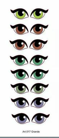 Molde de Olhos Cartoon Eyes, Cartoon Drawings, Doll Eyes, Doll Face, Craft Eyes, Flower Pot People, Eye Stickers, Clay Pot Crafts, Scrapbook Embellishments