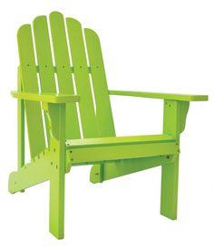Shineco Marina Standard Adirondack Chair In Lime Green Finish
